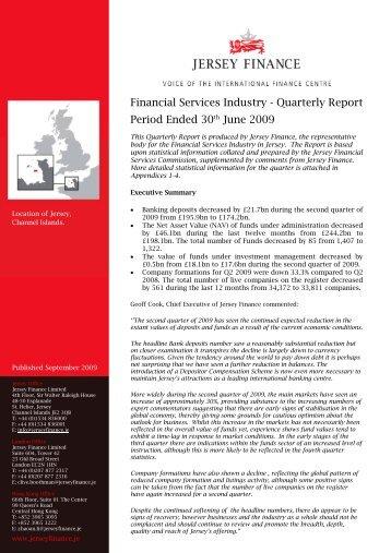 Quarterly Report June 2009.pdf - Jersey Finance