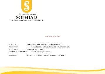 Junta de Mejoras - Municipio Soledad de Graciano Sanchez