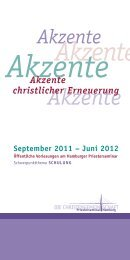 Akzente - Priesterseminar Hamburg