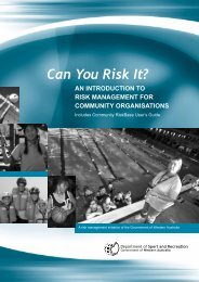 Can You Risk It? - Insurance Commission of Western Australia