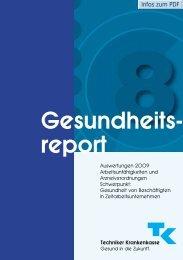 TK Gesundheitsreport 2009 - Techniker Krankenkasse
