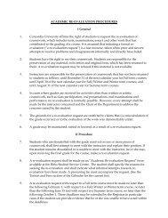 Academic Re-evaluation Procedures - Concordia University