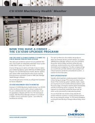 CSI 6500 Upgrade Program - Emerson Process Management