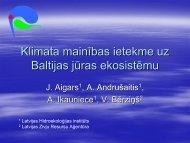 Klimata mainības ietekme uz Baltijas jūras ekosistēmu