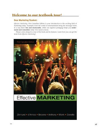 Textbook Tour - Effective Marketing, First Canadian Edition