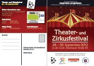 Informationen - Coburger Kinder- und Jugendtheater