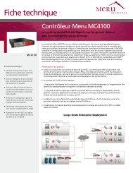 Télécharger la fiche technique du Meru MC4100