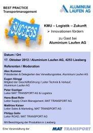 Firmenportrait Aluminium Laufen AG - Via Mat
