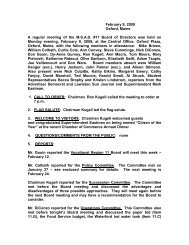 Microsoft Word - Minutes 2-9-09.pdf - Oxford Hills Comprehensive ...