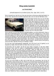 Ming eetste Autofaht - Akademie för uns kölsche Sproch