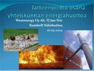 Jan Teir: Jätteenpoltto osana yhdyskuntien energiahuoltoa - Ramboll