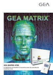 Brochure commerciale MATRIX 4700 - GEA Happel Belgium