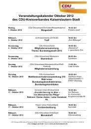 Veranstaltungskalender Oktober 2012 des Cdu-Kreisverbandes ...