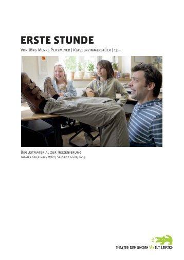 ERSTE STUNDE - Theater der Jungen Welt