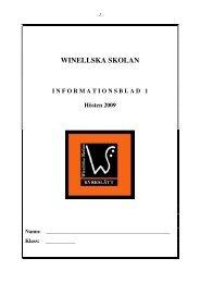 Skolans namn: Winellska skolan - Kyrkslätts kommun