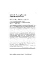 Epistemic planning for single- and multi-agent ... - DTU Informatics