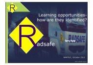 RADSAFE update - Ramtuc
