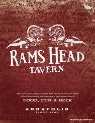 FOOD, FUN & BEER - The Rams Head Group