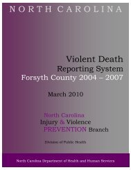 Forsyth 2004-2007 Final 5March2010 - NC Injury and Violence ...