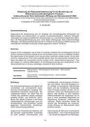 Bedeutung der Redoxpotentialmessung für die Beurteilung und ...