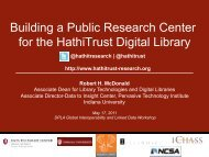 Building a Public Research Center for the HathiTrust Digital Library