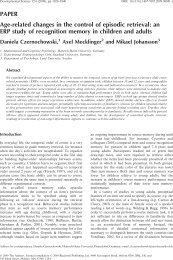 PAPER Age-related changes in the control of episodic retrieval: an ...