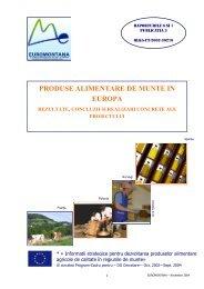 PRODUSE ALIMENTARE DE MUNTE IN EUROPA - Euromontana