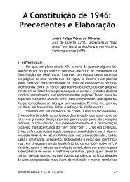 A Constituição de 1946: Precedentes e Elaboração - Emerj