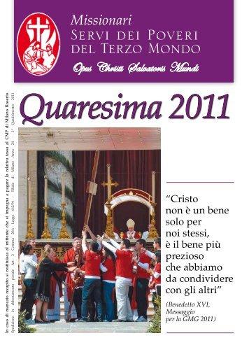 Quaresima 2011 - Misioneros Siervos de los Pobres del Tercer Mundo