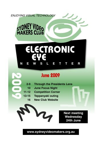 Electronic Eye June 2009 - Sydney Video Makers Club