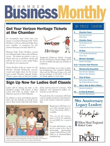 Get Your Verizon Heritage Tickets at the Chamber Sign Up Now for ...