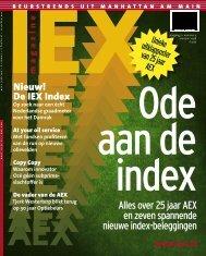 Alles over 25 jaar AEX en zeven spannende nieuwe index ... - Iex