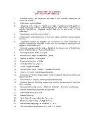 A. DEPARTMENT OF SHIPPING (POT PARIVAHAN ... - Rajya Sabha