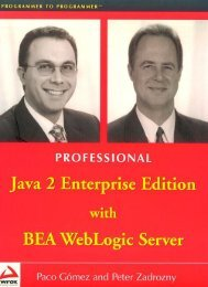 Professional Java 2 Enterprise Edition With BEA ... - DOC SERVE