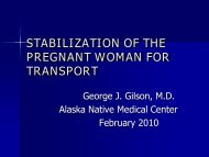 stabilization of the pregnant woman for transport - ANTHC