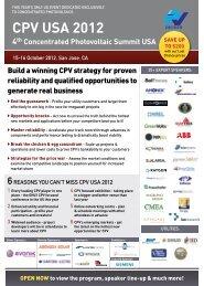 CPV USA 2012 - PV Insider