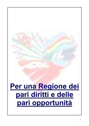 Per una Regione dei pari diritti e delle pari opportunità - FUNZIONE ...