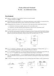Fizika felkészít˝o feladatok 10. hét – Az elektromos áram