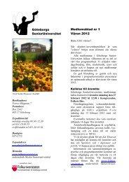 Medlemsblad nr 1 Våren 2012 Göteborgs ... - Folkuniversitetet