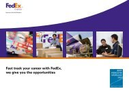 Fast track your career with FedEx, we give you the opportunities