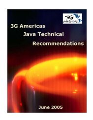 3G Americas Java Technical Recommendations - 4G Americas