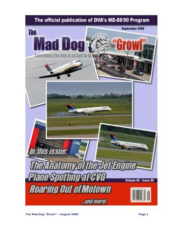 """The Mad Dog """"Growl"""" – August 2006 Page 1 - Delta Virtual Airlines"""