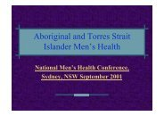 Aboriginal and Torres Strait Islander Men's Health