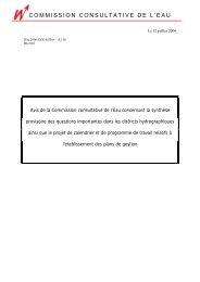 COMMISSION CONSULTATIVE DE L'EAU - Conseil économique et ...