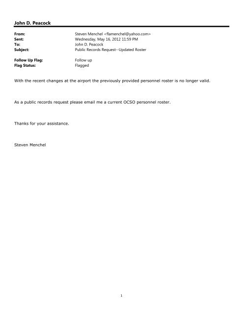 May 17 - Records Request 12-076665A - Okaloosa County Sheriff's ...