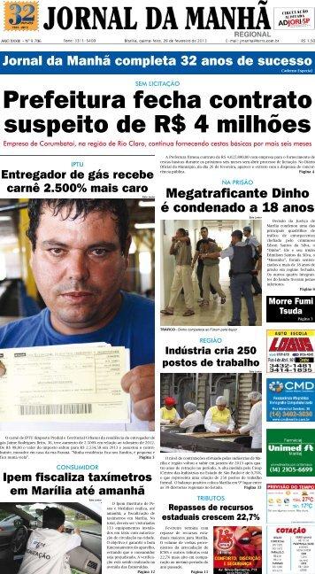 Prefeitura fecha contrato suspeito de R$ 4 milhões - Jornal da Manhã