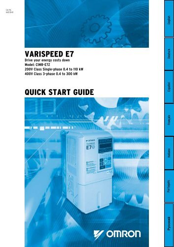 VARISPEED E7 QuIck START GuIDE - Carol Automatismos ...