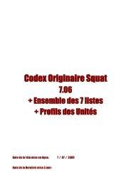 Codex Originaire Squat