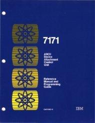 2.2 The IBM 7171 ASCII Device Attachment Control Unit - Index of