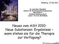 ASH 2010: Neue Substanzen von Klinikarzt Dr.Knut Wendelin ...